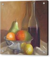 Fruit With Bottle Of Wine Acrylic Print