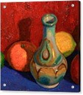 Fruit With Ceramic Vase Acrylic Print