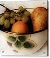 Fruitbowl Retro Acrylic Print