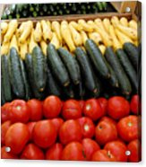 Fruits And Vegetables On Display 1 Acrylic Print