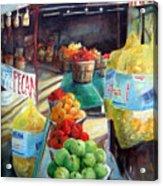 Fruitstand Rhythms Acrylic Print