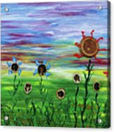 Fruity Flowerfield Acrylic Print