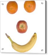 Fruity Happy Face Acrylic Print