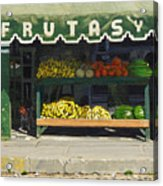 Frutas Y Acrylic Print by Michael Ward