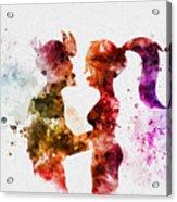 Fry And Leela Acrylic Print
