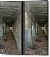 Ft. Howard Pk- Tunnel Effect - 3d Stereo X-view Acrylic Print