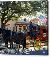 Ft Worth Stockyards Stagecoach  Acrylic Print