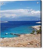 Ftenagia Beach On Halki Acrylic Print