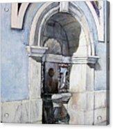 Fuente Castro Urdiales Acrylic Print by Tomas Castano