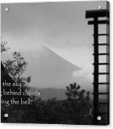 Fuji Bell Haiku Acrylic Print