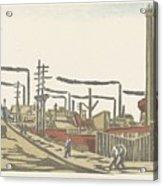 Fukagawa Bedrijventerrein  Maekawa Senpan  1945 Acrylic Print