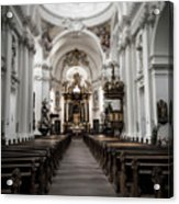 Fulda Cathedral Inside Acrylic Print