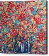 Full Flower Bouquet. Acrylic Print