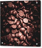 Full Frame Background Of Chocolate Chips Acrylic Print