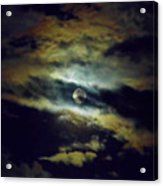 Full Moon And Clouds Acrylic Print