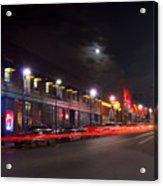 Full Moon And Night Clubs Acrylic Print