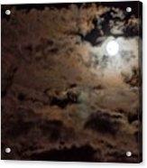 Full Moon Cloudy Night Acrylic Print