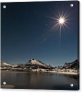 Full Moon In The Arctic Acrylic Print by Frank Olsen