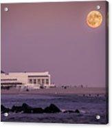 Full Moon Over Cape May Acrylic Print