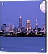 Full Moon Over Cleveland Acrylic Print