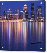 Full Moon Over Louisville Acrylic Print
