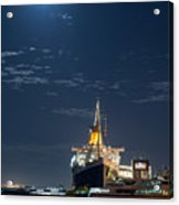 Full Moon Over Queen Mary Acrylic Print