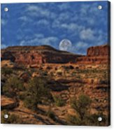 Full Moon Over Red Cliffs Acrylic Print