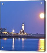 Full Moon Over Scituate Light Acrylic Print