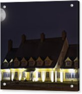 Full Moon Over Whalehead Acrylic Print