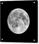 Full Moon Acrylic Print by Richard Newstead