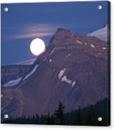 Full Moon Over The Rockies Acrylic Print