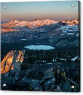 Full Moon Set Over Desolation Wilderness Acrylic Print