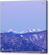 Full Moon Setting Over The Colorado Rocky Mountains Acrylic Print