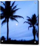 Full Moon Sunrise Acrylic Print