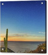 Full Moon With Shooting Star Acrylic Print