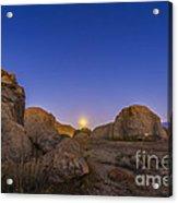 Full Moonrise At City Of Rocks State Acrylic Print
