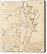 Fullfigure Portrait Of King Gustaf Acrylic Print