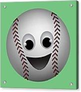 Fun Baseball Character Acrylic Print by MM Anderson