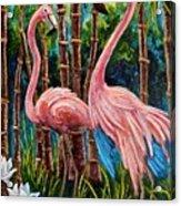 Fun Flamingos Acrylic Print