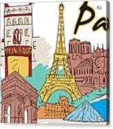 Fun Food And Folly In Paris Acrylic Print