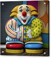 Fun House Clown Point Pleasant Nj Boardwalk Acrylic Print