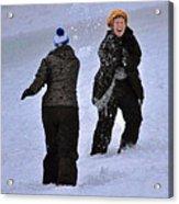 Fun In The Snow Acrylic Print