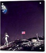Fun On The Moon Acrylic Print