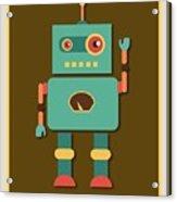Fun Retro Robot Acrylic Print