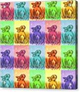 Fun Spring Bunnies Acrylic Print