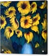 Fun Sun Flowers Acrylic Print