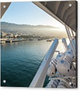 Funchal By The Ship Acrylic Print