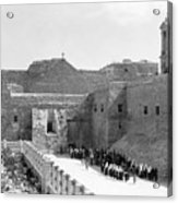 Funeral Procession In Bethlehem During 1934 Acrylic Print