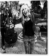 Funky Singer Acrylic Print