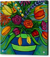 Funky Town Bouquet Acrylic Print